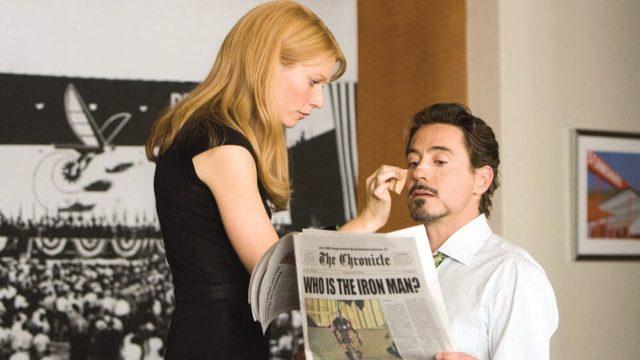 映画「アイアンマン」のトニーとペッパー